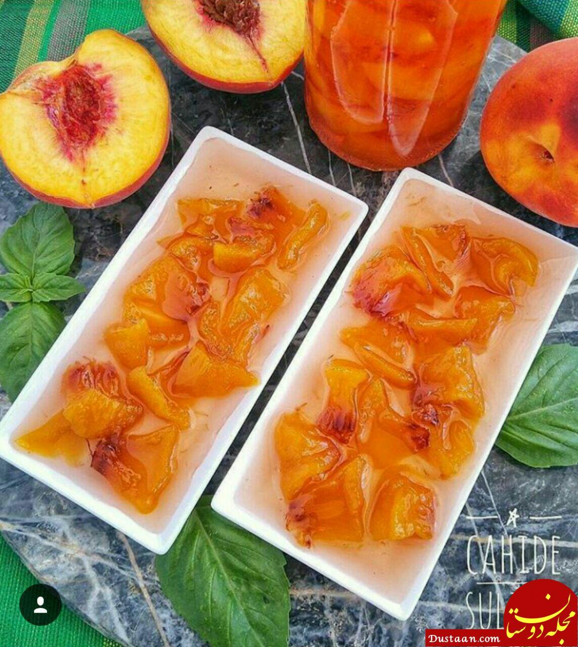 www.dustaan.com طرز تهیه مربای هلو به روشی خوشمزه!