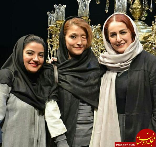 شقایق دهقان و یلدا عباسی در کنار مرضیه ابراهیمی +عکس