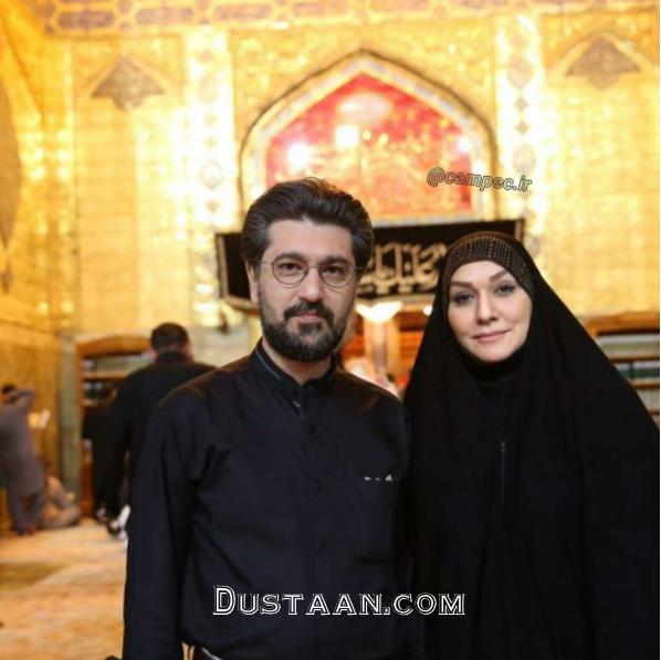 امیرحسین مدرس و همسرش در نجف +عکس
