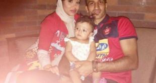 حسین ماهینی به همراه همسر و فرزندش +عکس