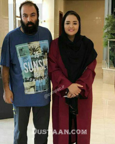نرگس محمدی و علی اوجی زمانی که ریش داشت +عکس