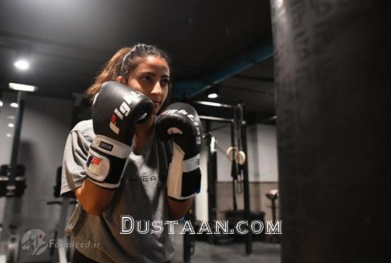 www.dustaan.com باشگاه مشت زنی دختران در عربستان! +تصاویر