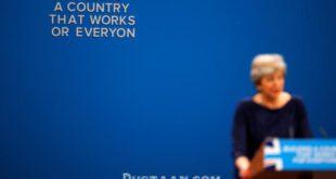 تنش در سخنرانی ترزا می با حکم اخراج او +تصاویر