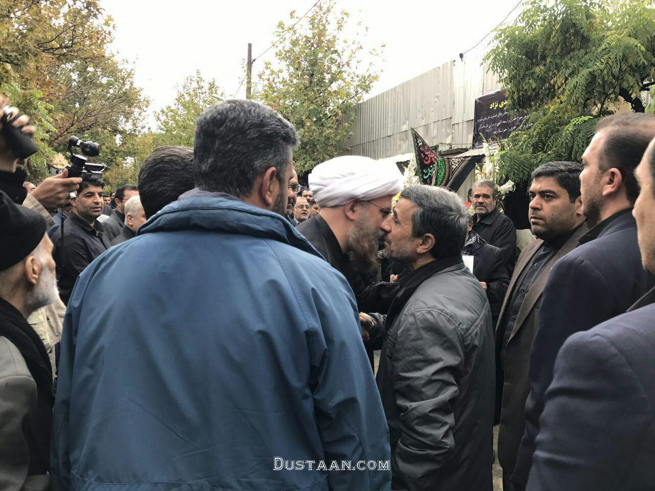 احمدی نژاد در مراسم تشییع برادرش داوود +عکس