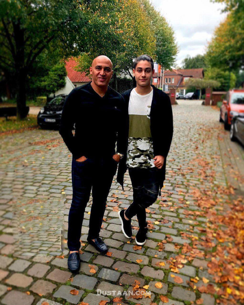 www.dustaan.com علیرضا منصوریان و پسرش در آلمان +عکس