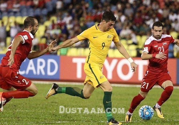 www.dustaan.com تساوی یک بر یک سوریه مقابل استرالیا در دیدار رفت پلی آف