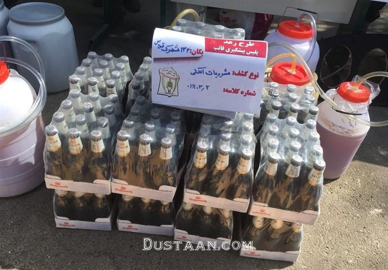 توزیع مشروبات الکلی در بطری دلستر در شهرک قدس +عکس