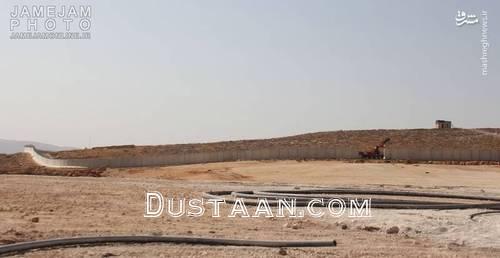 ساخت دیوار مرزی بین ترکیه و سوریه +عکس