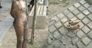 سرقت مجسمه کودک میدان ونک در روز کودک +عکس