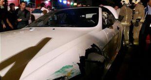 تصادف شدید بامو با خودرو پرشیا در خیابان نیروی هوایی +تصاویر