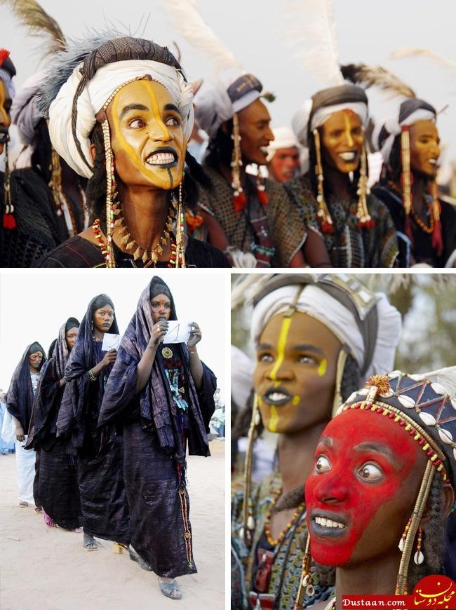 www.dustaan.com در این قبیله دختران به خواستگاری مردان آرایش کرده می روند! +عکس