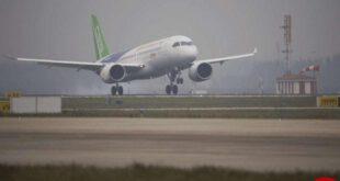 تولید اولین هواپیمای مسافربری چینی