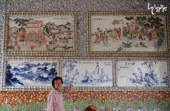 www.dustaan.com تصاویر : زن خلاق چینی که یک کاخ سرامیکی شخصی برای خود ساخت