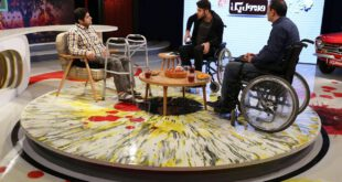 علی ضیا با ویلچر روی آنتن تلویزیون
