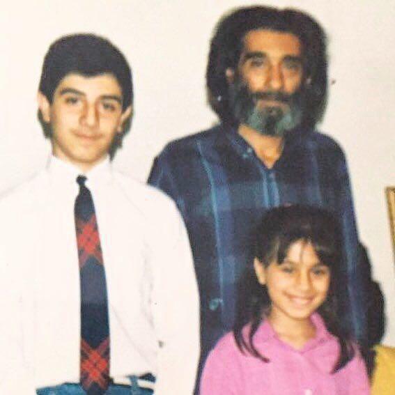 www.dustaan.com عکس دیدنی زنده یاد انوشیروان ارجمند به همراه بهار و برزو