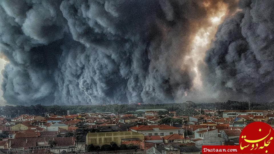 www.dustaan.com تصویری وحشتناک از آسمان پرتغال!