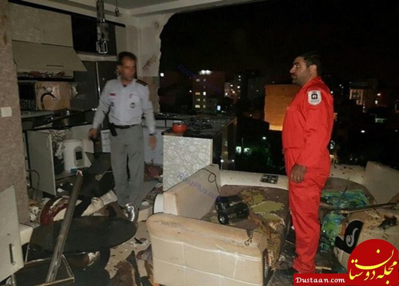 www.dustaan.com انفجار مهیب آپارتمان در محمد شهر کرج +تصاویر
