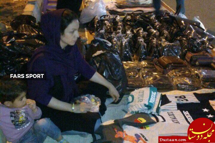 www.dustaan.com دستفروشی آتوسا عباسی رکورددار دوچرخه سواری زنان ایران +عکس