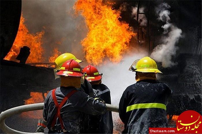 www.dustaan.com آتش سوزی یک مغازه در طبقه ششم پاساژ علاءالدین