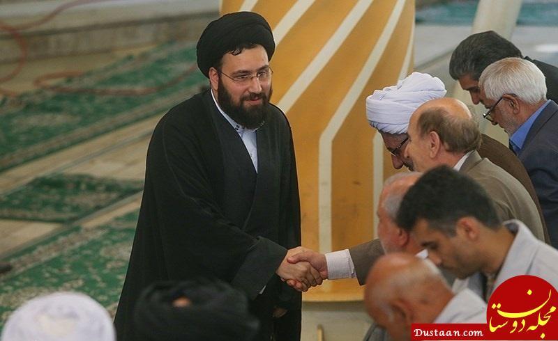 www.dustaan.com نوه امام خمینی در صف اول نماز جمعه +تصاویر