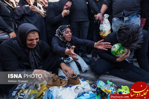 www.dustaan.com تصاویری تلخ از مراسم ختم اهورا کوچولو