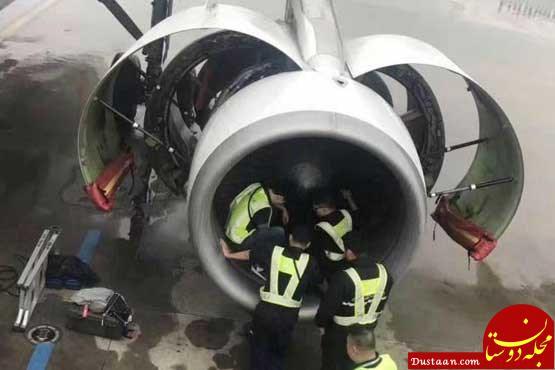 www.dustaan.com انداختن سکه در موتور هواپیما برای داشتن سفری بی خطر در چین +عکس