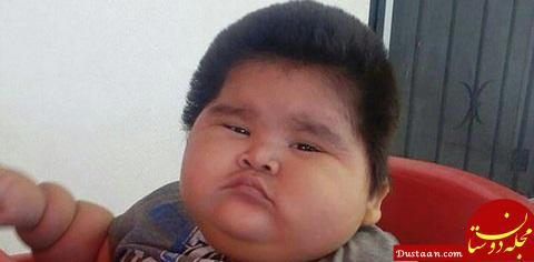 www.dustaan.com تصاویر : چاق ترین کودک ۱۰ ماهه جهان با ۳۰ کیلوگرم وزن