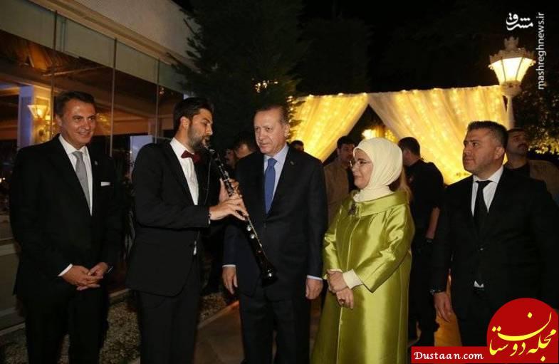 اردوغان در مراسم عروسی فوتبالیست ملی پوش +تصاویر