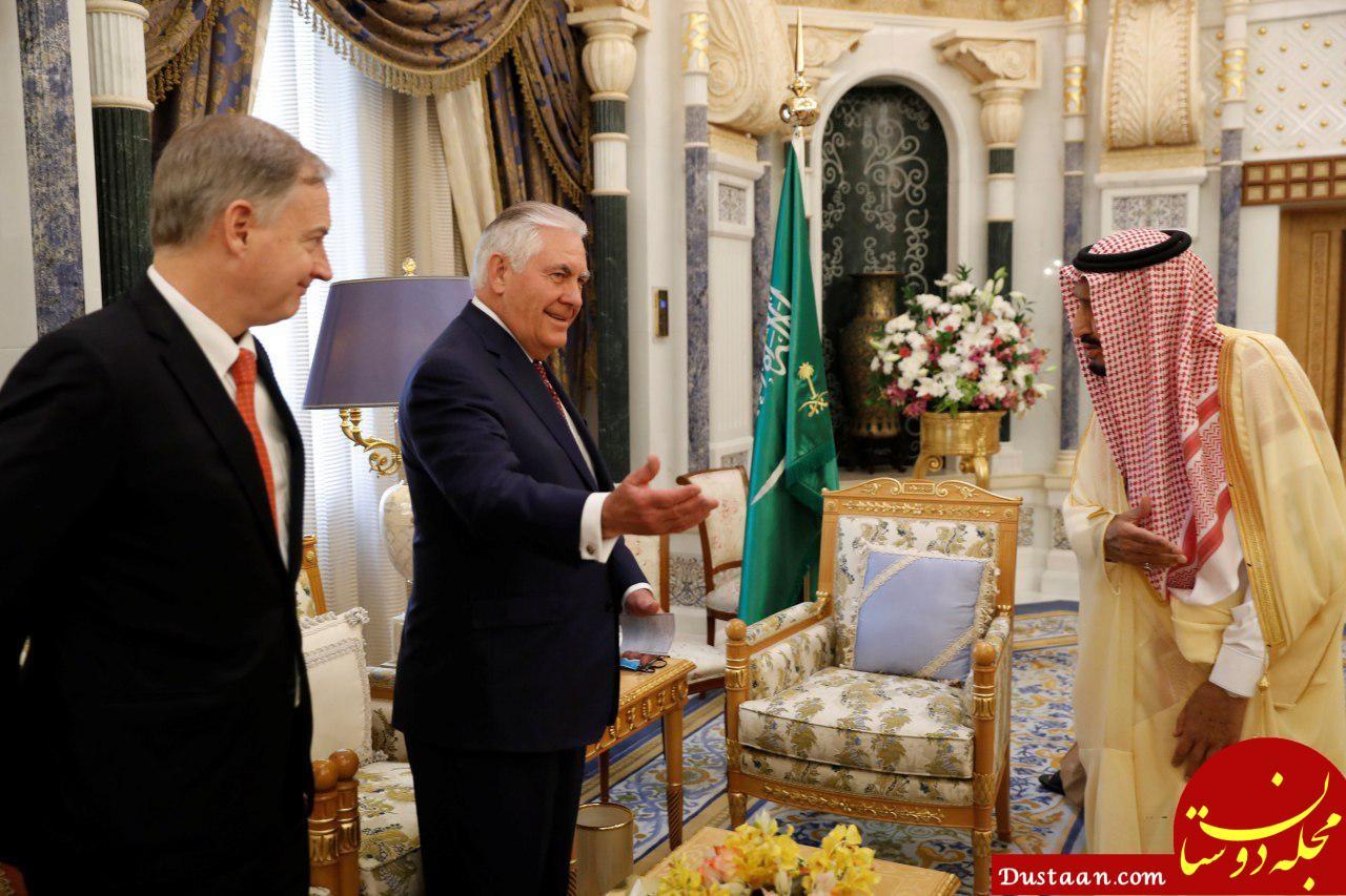 www.dustaan.com استقبال گرم ملک سلمان از تیلرسون +عکس