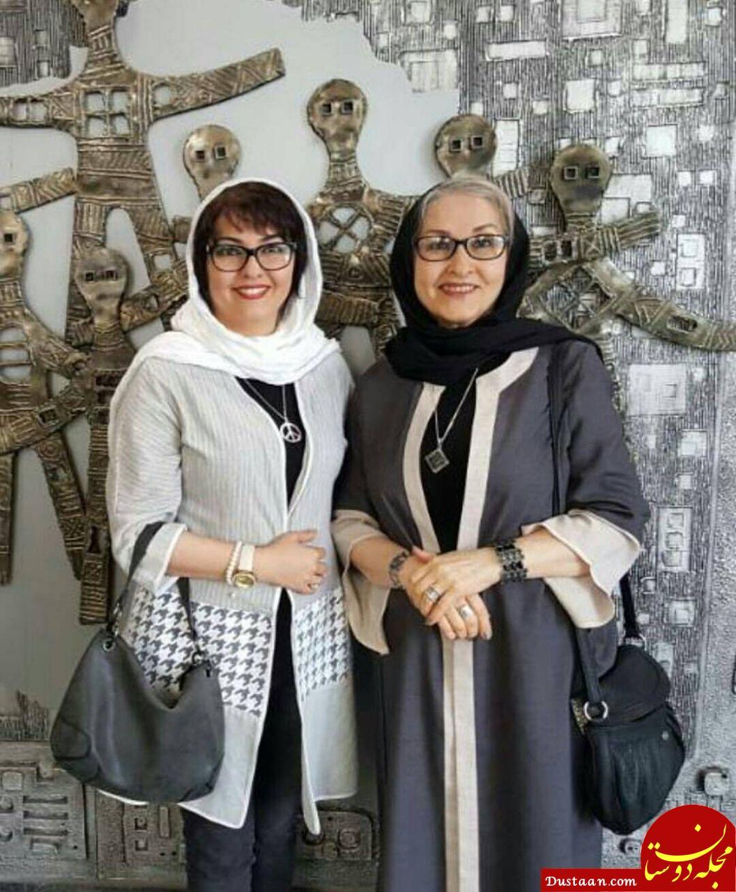 www.dustaan.com تصویری زیبا از آناهیتا همتی و مادرش