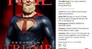 عجیبترین عکسی که پسر ترامپ از پدرش منتشر کرد+تصویر
