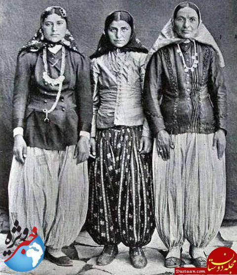 www.dustaan.com تیپ خاص دختران بالاشهری در زمان قاجار +عکس
