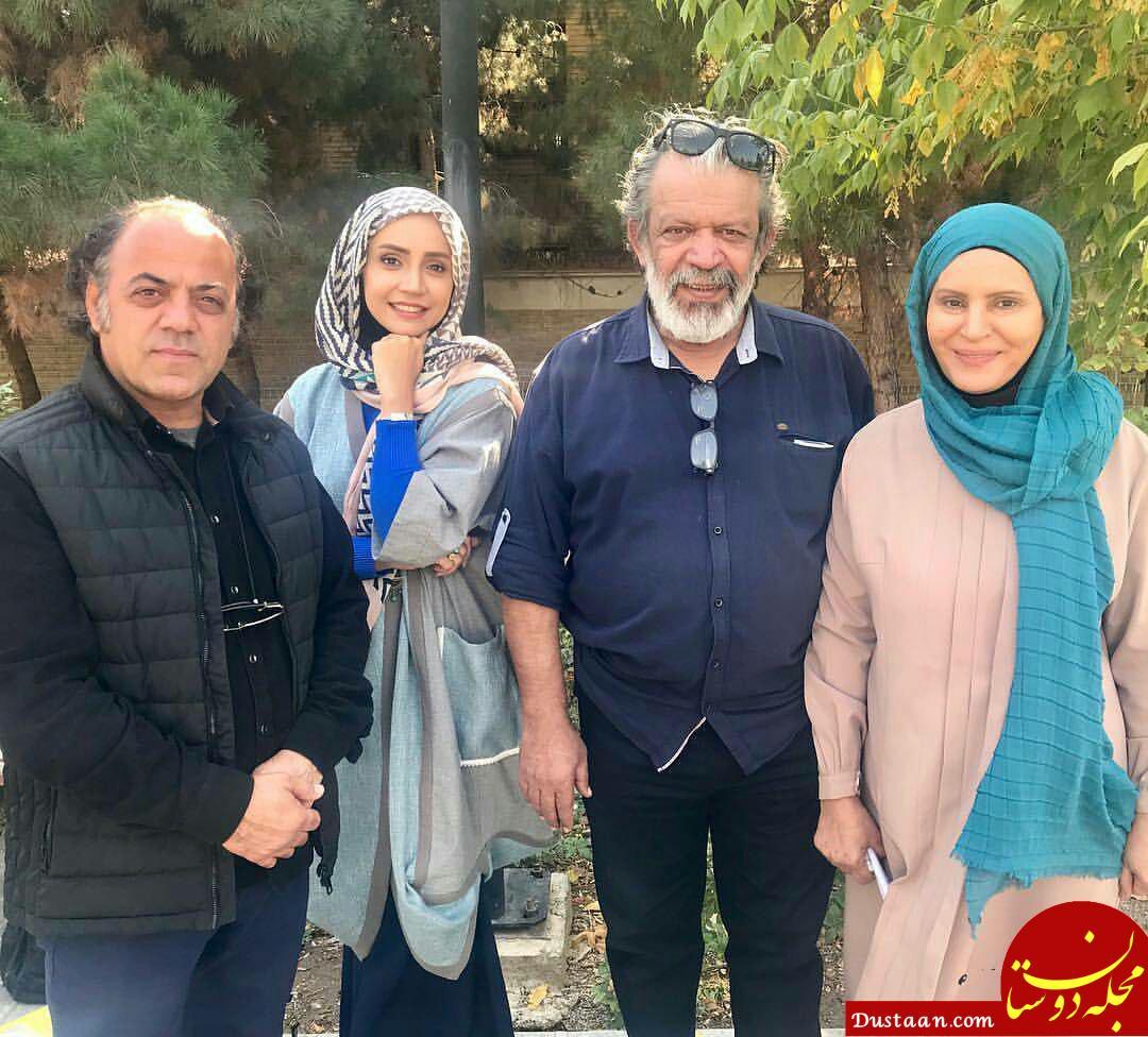 www.dustaan.com گلچهره سجادیه و شبنم قلی خانی در پشت صحنه «آنام» +عکس