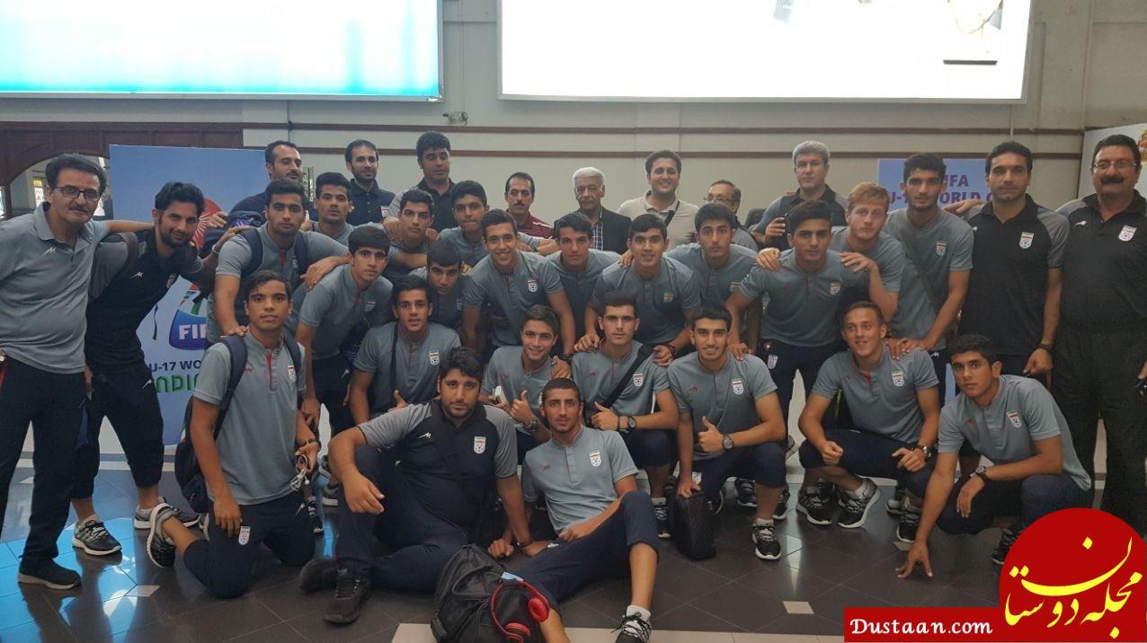 www.dustaan.com تیم ملی فوتبال نوجوانان وارد تهران شد +عکس