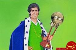 عکس : پیکان آلبالویی جایزه مرد سال فوتبال ایران