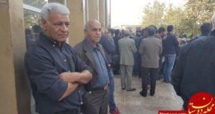 مراسم تشییع پیکر ابراهیم آشتیانی با حضور اهالی فوتبال +تصاویر