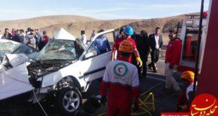5 کشته در تصادف خونین پژو و سمند در جاده بیرجند +عکس