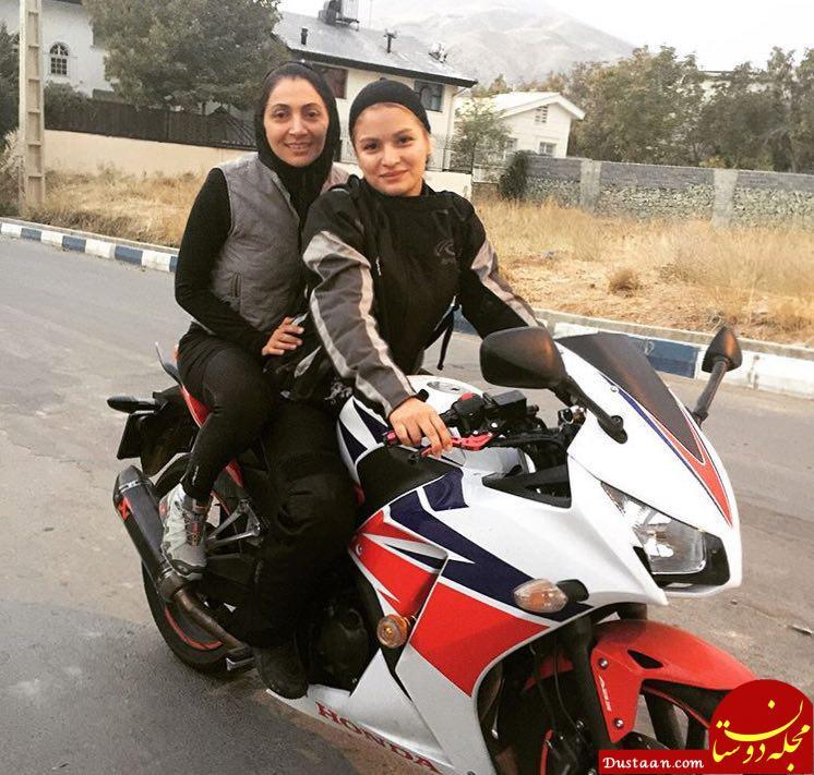 www.dustaan.com موتورسواری نیلوفر خوشخلق همسر امین حیایی +عکس