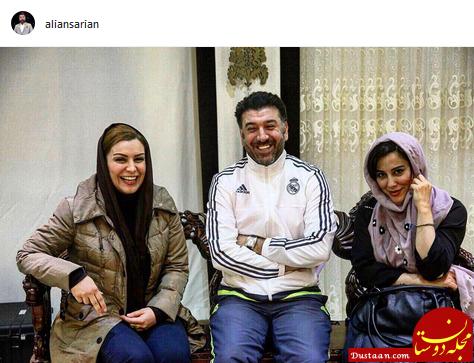 www.dustaan.com بازیکن سابق پرسپولیس در کنار دو بانوی سرشناس سینما +عکس