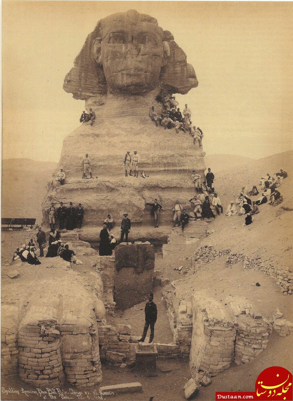 www.dustaan.com قدیمی ترین تصویر موجود از مجسمه ابوالهول