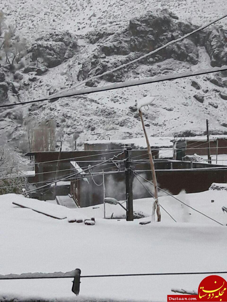 www.dustaan.com بارش نخستین برف پاییزی در آذربایجان شرقی +عکس