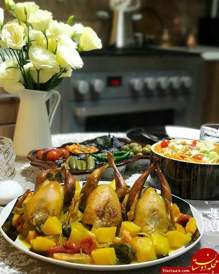 www.dustaan.com طرز تهیه خوراک کبک به سبکی بسیار خوشمزه + خواص گوشت کبک