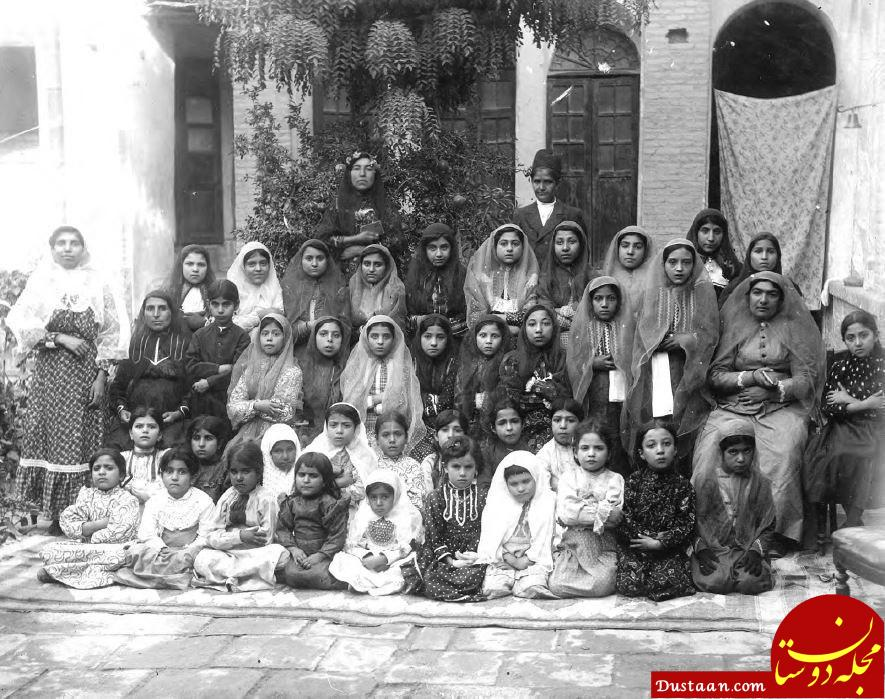 www.dustaan.com تفریحات خاص زنان و دختران در زمان قاجار! +عکس