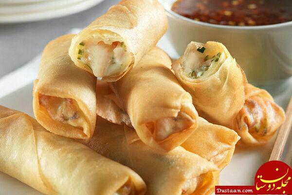 www.dustaan.com طرز تهیه سمبوسه پنیر در خانه، غذایی خوشمزه برای کودکان