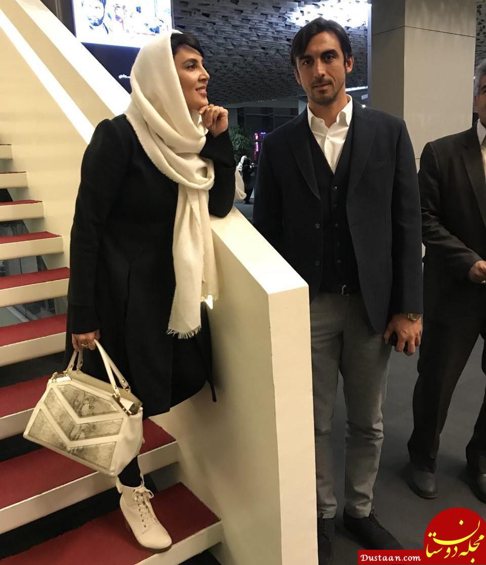 www.dustaan.com ستاره استقلال و خانم بازیگر در اکران خصوصی یک فیلم! +عکس