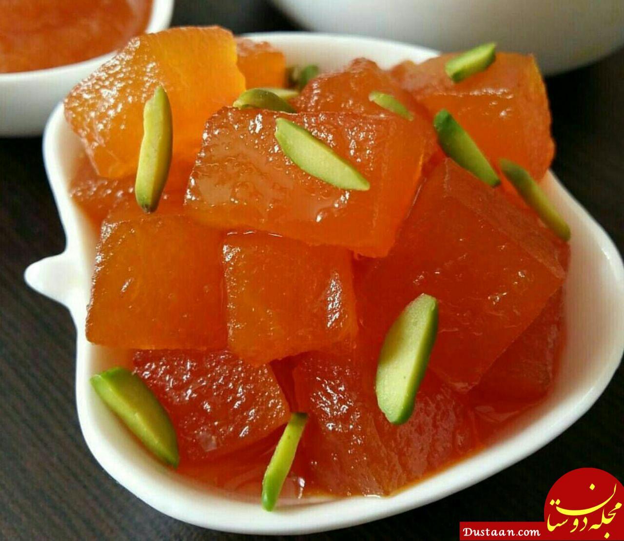 www.dustaan.com طرز تهیه مربا سیب به روشی خوشمزه