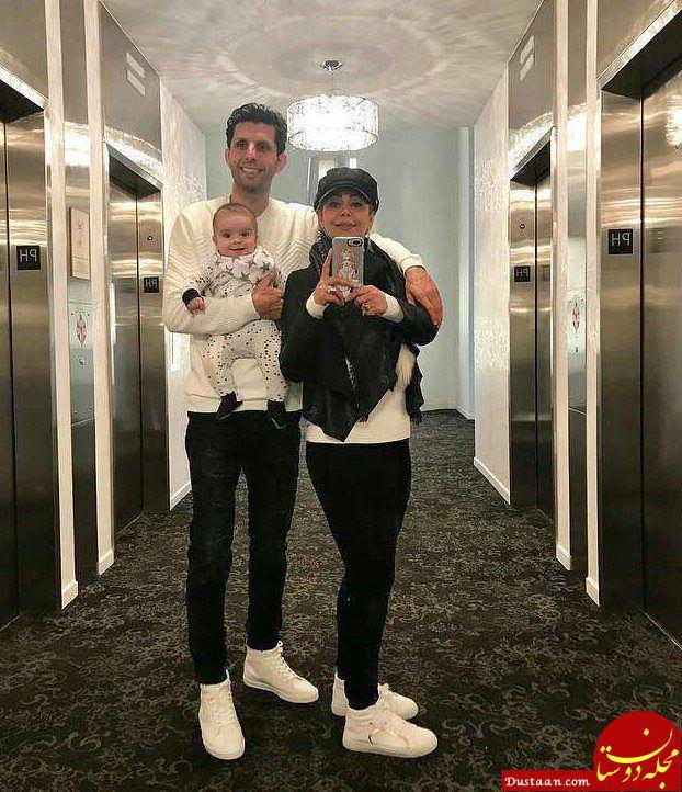 وحید طالب لو در کنار همسرش سوگل طالب لو و فرزندش لیام +عکس