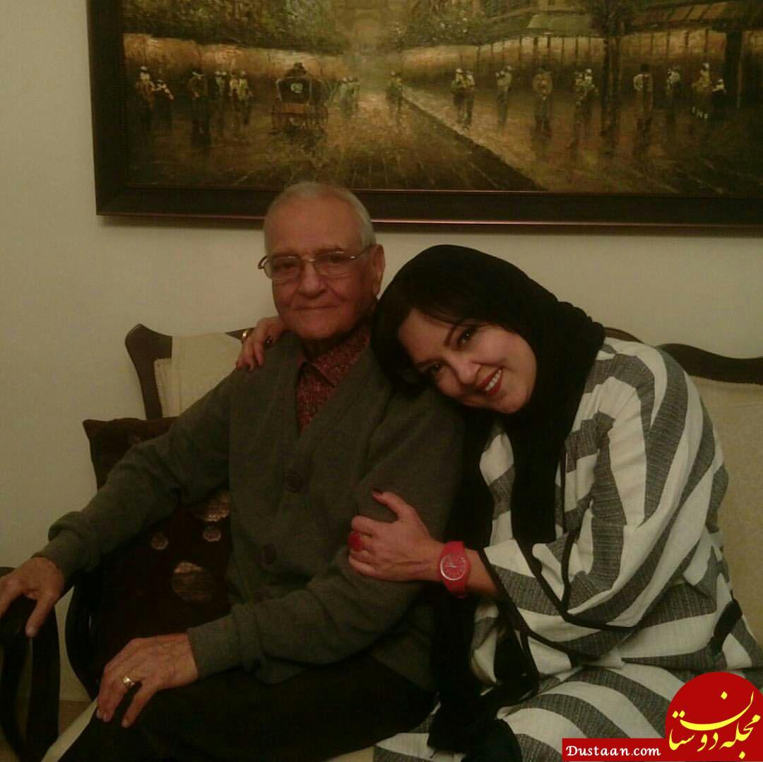 www.dustaan.com عکس احساسی پرستو گلستانی با پدرش!