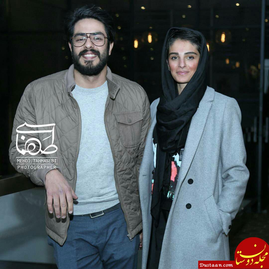www.dustaan.com پوریا شکیبایی و همسرش پریا در مراسم اکران «کمدی انسانی» +عکس