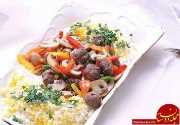 www.dustaan.com طرز تهیه «چلو با قارچ» به سبکی خوشمزه و آسان